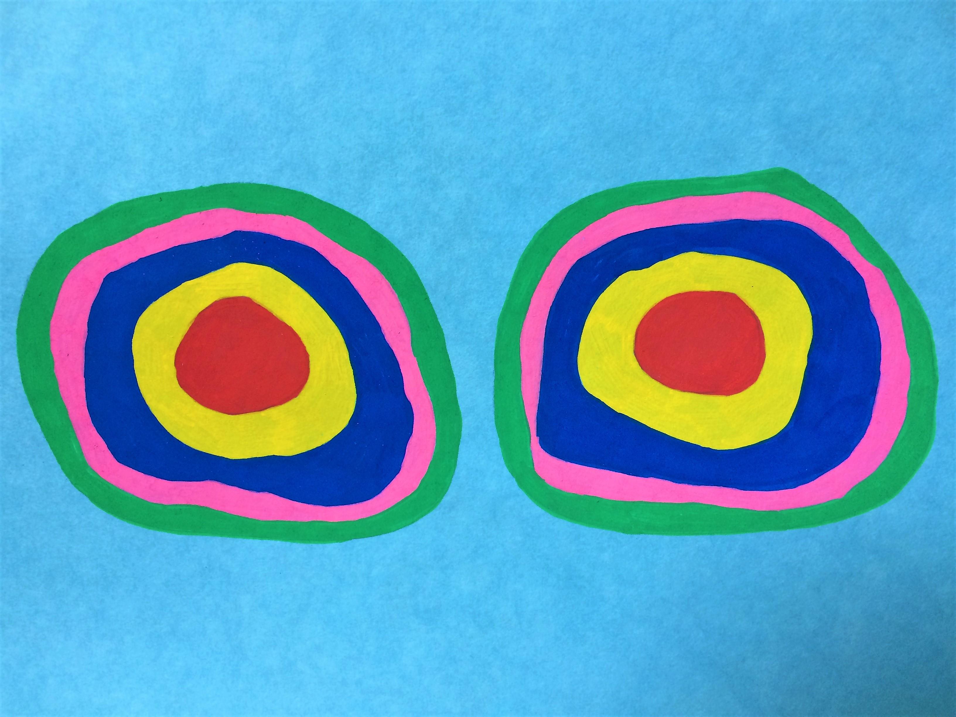 Kandinsky inspired booby circles, 2020.